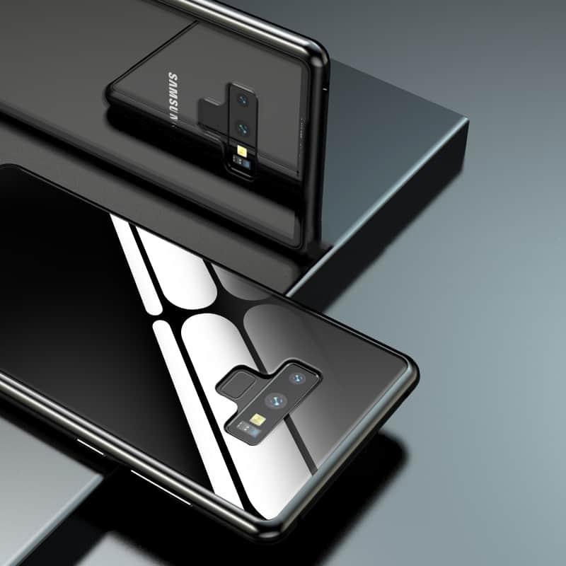 قاب مگنتی آهنربایی دو تیکه شفاف سامسونگ Note 9 |